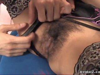 Fascinating mademoiselle Ami Matsuda receiving pussy pleasures