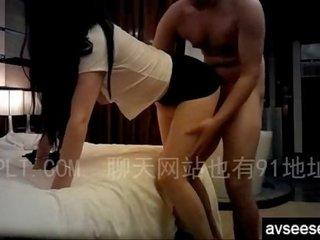 Fucking my long leg Chinese girl